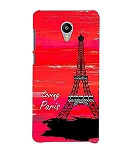 Fiobs Enjoy the background of paris Designer Back Case Cover for Meizu M3 Note :: Meizu Note 3