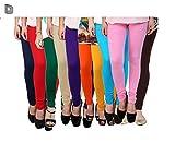 #9: Devil Women's Cotton Leggings (Combo of 10) (Black,White,Pink,Beige,Red ,Navy Blue,yellow, sky blue, Coffee &Purple)