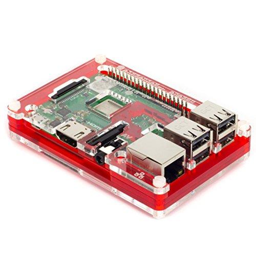 Pibow 3 B+ Coupé (Raspberry Pi 3 B+, 3, & 2) (Coupé Red) (Pibow Raspberry)