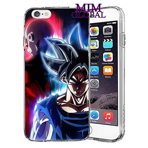 MIM Global Etuis Coque iPhone Dragon Ball Z Super GT Case Cover - Haute Qualite - Goku Rose - Goku Blue - Gohan - Vegeta Blue - DBS - DBZ - DBGT (iPhone 6/6s, J&G)