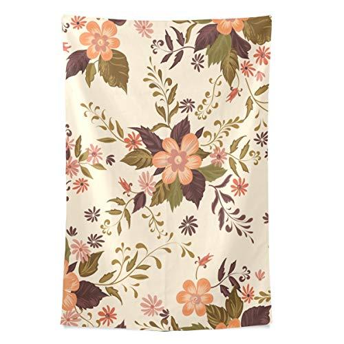 Hochzeit Elegante Blumen Spaß Wandteppich Wandbehang Kühle Post Drucken Für Wohnheim Hause Wohnzimmer Schlafzimmer Tagesdecke Picknick Bettlaken 80X60 Zoll -
