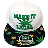 Gorra con visera plana de King Ice, con diseño de plantas de marihuana, unisex Make it Legal Taille unique