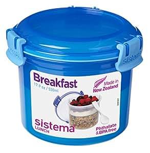 Sistema Klip It Boîte en plastique sans BPA Petit déjeuner à emporter