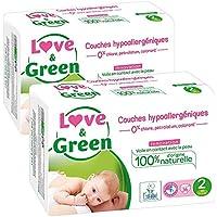 Love & Green–Windeln Baby Hypoallergen 0%–Größe 2(3–6kg)–Lot de 2x 36Windeln (72Windeln)
