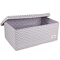 Minene Small,Large Foldable Fabric Storage Box, Storage Basket