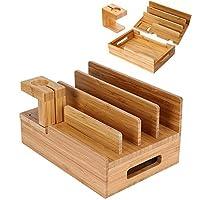 قاعدة شحن بامبو لاجهزة متعددة - قاعدة شحن خشبية يو اس بي