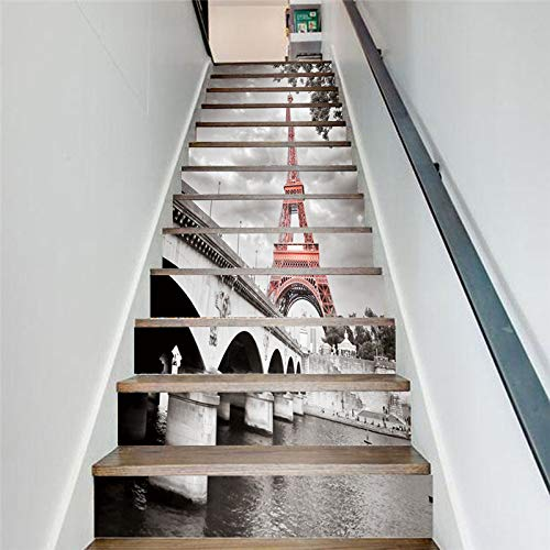 y Tower Sweet Candy Stairs Stickers Diy Decoration Vinyl Self Adhesive Wallpaper Livingroom Restaurant Pvc Mural 13 Stück ()