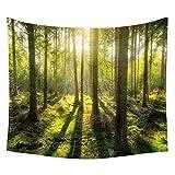 Yamer Sunrise Natur Forest Gobelin böhmischen Strand Handtuch Decke Wandbehang Dekorationen für...