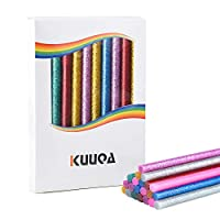 KUUQA 30 Pcs 7 Color Mixing Glitter Hot Melt Glue Adhesive Glue Sticks for DIY Art Craft 7 x 100mm