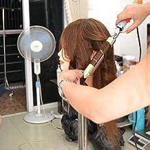 shuiniuyang ®Maniqui de Cabeza para practicas de peluqueria con cabello pelo real 100% 45cm (con soporte)
