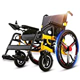 ACEDA Heavy Duty Electric Wheelchair, Foldable And Lightweight Powered Wheelchair,Seat Width 50Cm, 360° Joystick, Weight Capacity 100KG