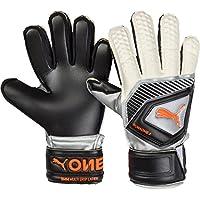 Puma One Protect 3 JR, Goalkeeper Gloves Unisex – Adulto Black-Silver White-Shocking Orange, 6