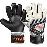 Puma One Protect 3 JR, Goalkeeper Gloves Unisex Adulto, Black-Silver White-Shocking Orange, 5