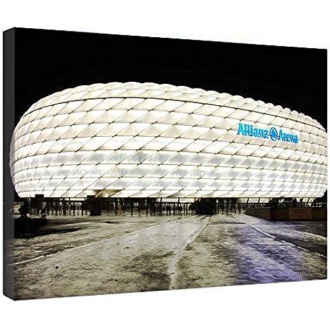 LeeQueen Las Impresiones Sobre Lona Arte de la Pared - Estadio Allianz Arena - Antecedentes Consejo de Madera Estirada Abrigo de la Lona Listo Para Colgar Para el Hogar y la Decoración de la Oficina - 24