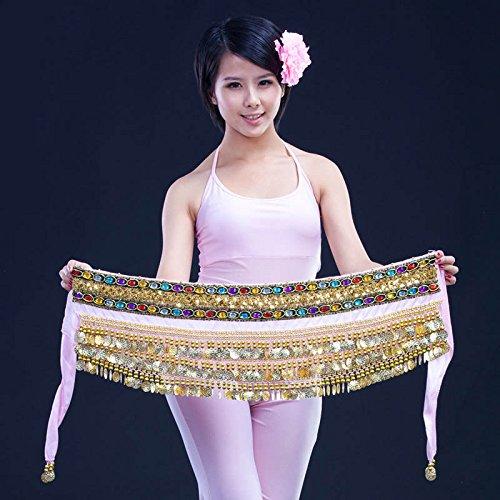 3rangées Belly Dance Hip Écharpe Wrap ceinture Jupe danseuse pour pièces Style 5