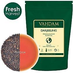 VAHDAM® Darjeeling Loose Leaf (Lose Blätter) Tee (150+ Tassen), Ergiebig & Vollmundig, Schwarzer Second Flush Tee, 100% Zertifiziert, Rein & Unverschnitten. Direkt aus Indien, 255g