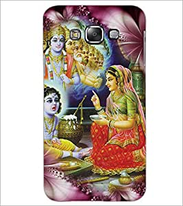 PrintDhaba Lord Krishna D-4534 Back Case Cover for SAMSUNG GALAXY E7 (Multi-Coloured)