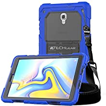"""TECHGEAR VANGUARD Case fits Samsung Galaxy Tab A 10.5"""" (SM-T590 Series) - Tough Rugged HEAVY DUTY Armour Shock Proof Survival Protective Case with Integrated Stand and Attachable Shoulder Strap"""