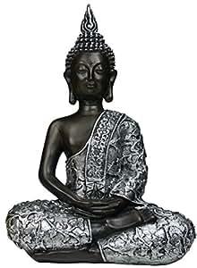 khevga dekorationsartikel deko figur buddha statue sitzend 30cm aus polyresin. Black Bedroom Furniture Sets. Home Design Ideas