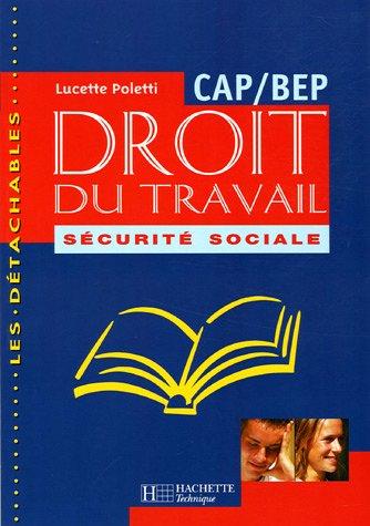 Droit du travail et Sécurité sociale, CAP/BEP, élève