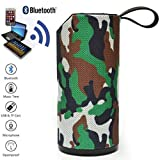 T3S® Portable Tg-113 Hydra Xtreme Waterproof/Shockproof Bluetooth Speaker with Built-in Microphone Tf/USB/Aux Compatible