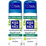 Kiss My Face Cucumber Green Tea Roll On Deodorant (Pack Of 2) With Green Tea Leaf Extract And Willow Bark Extract...