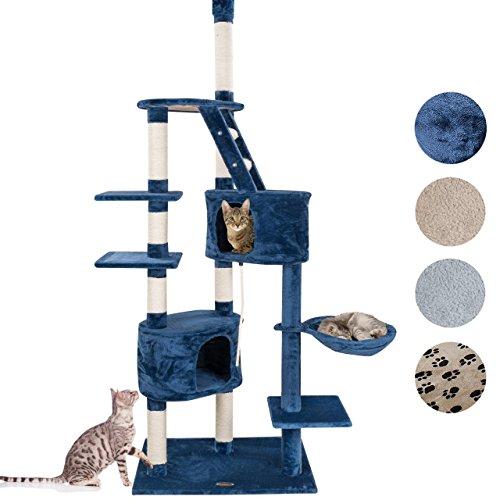 Happypet® CAT009-2 Kratzbaum Katzenbaum deckenhoch 2,30 bis 2,60 hoch Blau