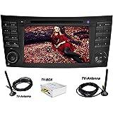 YINUO 7 Pulgadas 2 Din In Dash Estéreo Pantalla Táctil Reproductor De DVD Navegador GPS De Coche Autoradio Bluetooth Para Mercedes-Benz E-W211/E200/E220/E240/E270/E280(2002/03-2008)/ CLS-W219/CLS350/CLS500/CLS55(2005-2006)/ CLK-W209(2005-2006) G-W463(2001-2008) Soporte De USB/ SD/ AM FM Radio/Control Del Volante Incluida DVB-T
