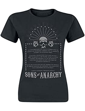 Sons of Anarchy Anarchist Rules Camiseta Mujer Negro