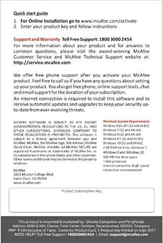 McAfee Anti-Virus Plus – 1 PC, 1 Year (Voucher)