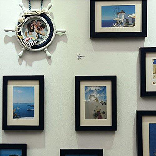 X&L Mittelmeer Europäische Classic Foto Wand kreativ Home Dekoration Handarbeit Holz Foto , deep blue - 5