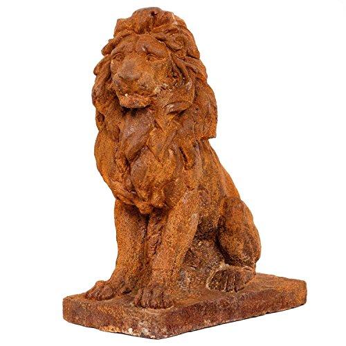 León figura izquierdo jardín escultura hierrro herrumbre estatua estilo antiguo