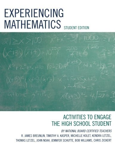 Experiencing Mathematics: Activities to Engage the High School Student by James R. Breunlin (2006-09-28) par James R. Breunlin;Timothy A. Kasper;Michelle Kolet;Kendra Letzel;Thomas Letzel