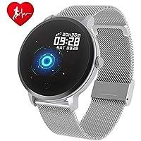 BingoFit Fitness Armbanduhr Wasserdicht Smart Watch Fitness trackers Sport Uhr mit Schrittzähler, Pulsmesser, Kamerasteuerung, Musiksteuerung, Schlaf-Monitor, Call SMS Android iPhone Handy