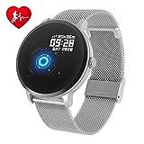 BingoFit Fitness Armbanduhr Wasserdicht Smart Watch Fitness trackers Sport Uhr mit Schrittzähler, Pulsmesser, Musiksteuerung, Schlafmonitor, Call SMS für Herren Damen