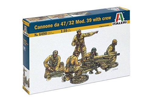Italeri 6490 - cannone da 47/32 mod. 39 with crew model kit  scala 1:35