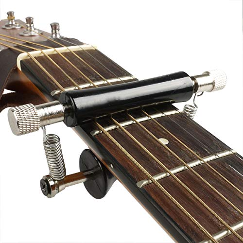 BigBig Style Guitar Rolling Capo for Acoustic and Electric Guitar,Black