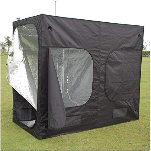 Poncherish Tente Serre de Jardin, Growbox, Armoire à Culture, Jardinière, 240 x 120 x 200 cm - Noir (tissus opaques, revêtement intérieur réfléchissants, sol étanche, entrée)