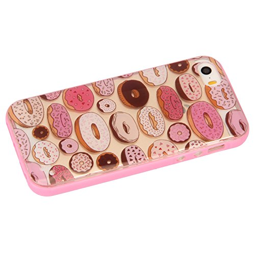 iPhone 6S Hülle, iPhone 6 Silikon Hülle Combo Tasche Handyhülle, iPhone 6S TPU Gel Bumper Case Weiches Silikon Schutzhülle, SainCat Silikon Crystal Kirstall Clear Case Durchsichtig Malerei Muster Tran Donuts