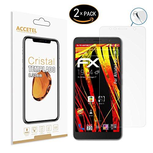 Schutzfolie Panzerglas kompatibel mit Alcatel 3C Panzerglasfolie Gehärtetem Glas Bildschirmschutzfolie für Alcatel 3C 6.0'' Zoll 2-Pack
