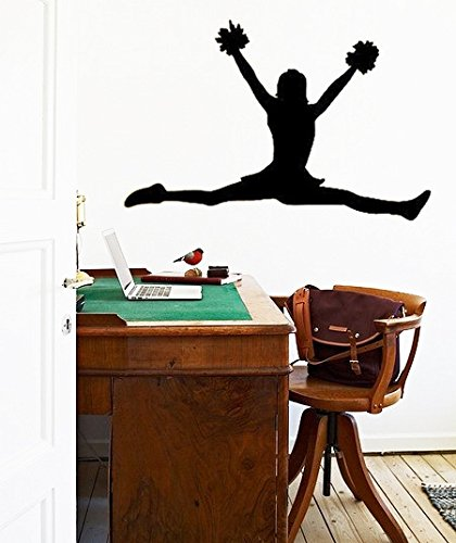 hommay-pvc-wall-stickers-girls-cheerleading-childrens-room-den-european-home-decoration-glass-green-