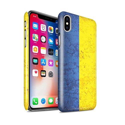 STUFF4 Glanz Snap-On Hülle / Case für Apple iPhone X/10 / Griechenland/Griechisch Muster / Flagge Kollektion Ukraine/Ukrainisch