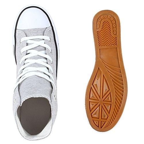 Scarpe Da Uomo Sneakers Sneakers Alte Sneakers In Denim Scarpe Di Stoffa Mimetiche Lacci Flandell Grigio Chiaro