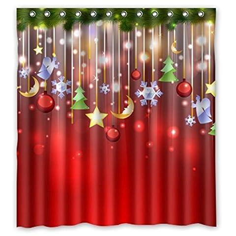 JACKY Merry Christmas Fabric Waterproof Bathroom Shower Curtain 66