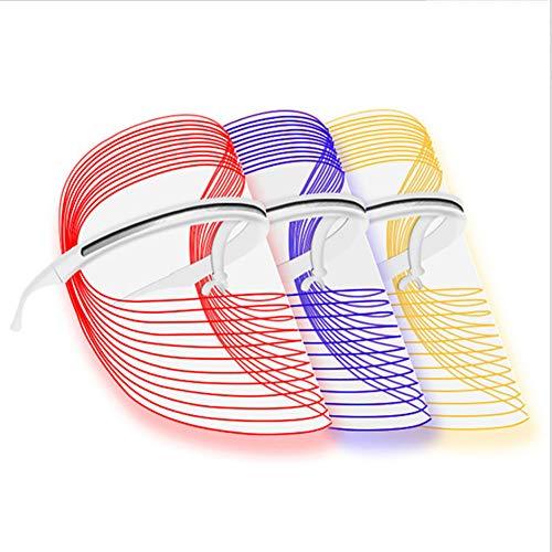 CSFM-Face Ménage Commande Tactile LED Tricolore Photon Thérapie Instrument Beauté Électrique Soin Peau Blanchiment Ride Rajeunissement USB