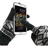 GreatShield COZY Gants tactiles unisexes de qualité supérieure ultra chauds en laine d'agneau 95 % conductrice pour écrans tactiles de smartphones, tablettes, liseuses, bornes multimédia, distributeurs automatiques de billets, appareils photo numériques, caméras vidéo, consoles de jeux, GPS, lecteurs MP3 Taille S à XL