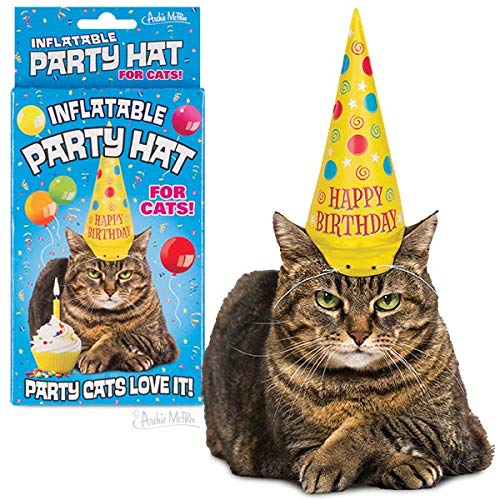 Archie McPhee Aufblasbarer Partyhut für Katzen