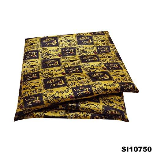 Silk-blend-vorhänge (Vintage Saree Silk Blend Crafted Material verwendet Gelb gedruckt Vorhang Drape Frauen Wrap Sari)