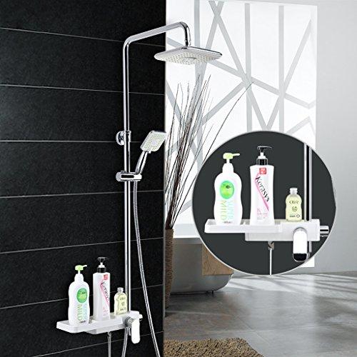 Preisvergleich Produktbild MOREY Regale Edelstahl Regenduschen Bad Brausegarnitur Filter