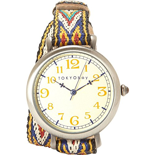 tokyobay-t018-be-frauen-bunte-lederband-beige-dial-analog-watch